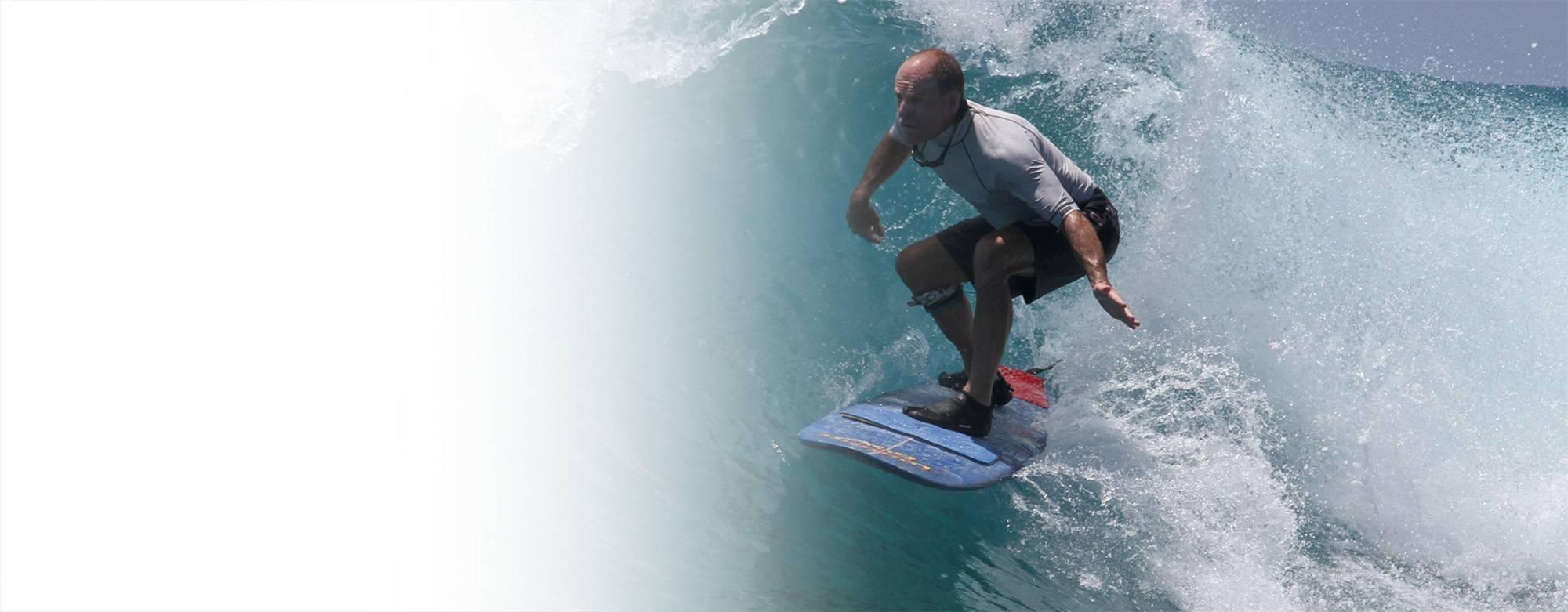 Neil Bradbury Surfing